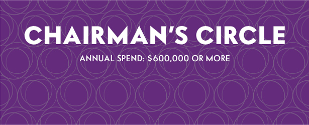 Chairman's Circle Annual Spend: $600,000 or more